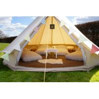 China 5m Canvas Bell Tent With Zipped In Ground Sheet on sale