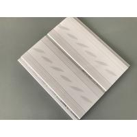 200*7mm Middle Groove Decorative Plastic Ceiling Panels With Two Silver Line