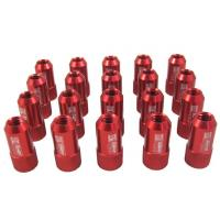 Best Red 40mm Aluminum Racing Wheel Lug Nuts With Key / Lock For Honda wholesale