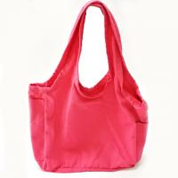 Best Pink 12oz Reusable Shopping Bags / Cotton Canvas Tote Bags with Customized Logo wholesale