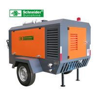 Best 7.5 m³/min Portable Screw Air Compressor 2400 r/min For Road Construction wholesale
