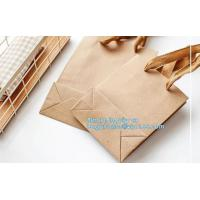 Custom printed white kraft paper shopping gift bag with handle paper carrier bag
