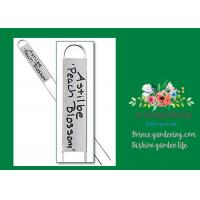 Cheap Durable Silver Metal Garden Plant Markers With Vertical Name Plates for sale
