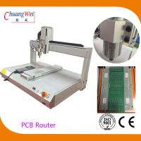 Quality White PCB Depaneling PCB Router Machine with 500mm/s Cutting Speed wholesale