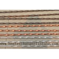 Best Twisted Stainless Steel , Finned Copper Tube With Higher Heat Transfer Coefficient wholesale