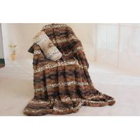 China Double Layer Faux Fur Bed Blanket Enviroment Friendly For Gifts / Home Anti - Pilling on sale