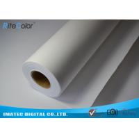 "Best Medium Textured Polyester Canvas Rolls Matte Bright White 24"" 36"" 44"" 50"" 60"" wholesale"