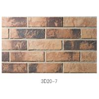 Best 3D20-7 Eco - Friendly Brick Veneer Wall , Sintered 3D Exterior Brick Veneer Panels For House Building wholesale