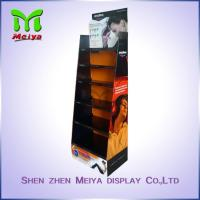 Best Colorful printing waterproof Cardboard Floor Displays stand cardboard display rack wholesale