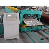 Best Delat PLC Control Steel Metal Roof Panel Roll Forming Machine Roof Panel Roll Former With 5 Ton Decoiler wholesale