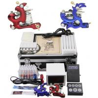 China Multi - Function School Starter Tattoo Kits With LCD Power Supply Voltage Regulator on sale