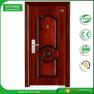 Cheap Exterior Steel Door with Mul-T-Lock China Turkish Steel Security Door Design Top for sale