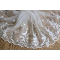 Best White Floral Venise Nylon Mesh White Bridal Lace Fabric For Dressmaking wholesale