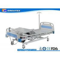 Best Motorized Three Function Electric Hospital Bed Rental , Nursing Home Rotating hospital bed wholesale