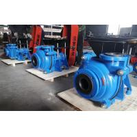 Buy cheap Black Soft Rubber Lined Slurry Pumps with CV Motor on Top Belt Driven Blue Color from wholesalers