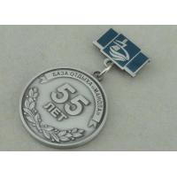 Cheap Zinc Alloy 3D Antique Silver Custom Awards Medals With Imitation Hard Enamel for sale