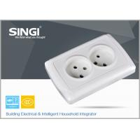 Best Europe standard 16A 250V two gang electric wall socket used in the living room wholesale