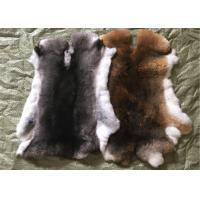 Best Tanned Grass Rex Rabbit Skin Fur Customized Size For Accessories / Clothing wholesale
