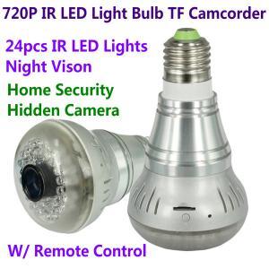 Best HD 720P E27 24pcs LED Light IR Bulb Lamp Video Camcorder Hidden Spy CCTV Surveillance DVR wholesale