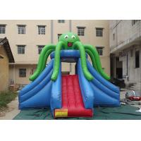 Best Green Octopus Giant Inflatable Slide Popular Attraction Reinforced Strips At Joint wholesale