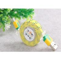 Cheap Customized USB To Micro USB Retractable Cable , Fabric Braided Micro USB Cable for sale