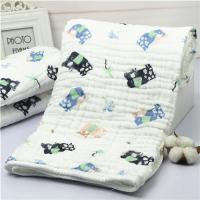Lightweight Muslin Baby Blankets Stock Nature Cotton Portable Reactive Printing