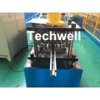 Best PPGI , Galvanized Steel Guide Rail Roll Forming Machine With Disk Saw Cutting For Making Shutter Door Slats wholesale