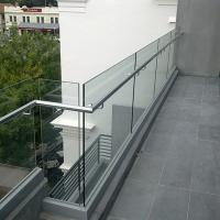 Best Fashion Aluminum U Channel Glass Balcony Railing With Stainless Steel Handrail wholesale
