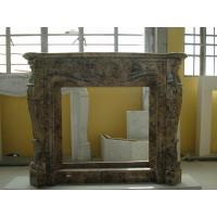 Best China Dark Emperador Marble Stone Fireplace Surround Brown Color 120*30*100cm wholesale