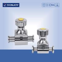 Quality Mini Direct way Clamp Sanitary Diaphragm Valve with Stainless Steel handwheel wholesale