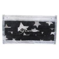 Best Single Piece Package Black Face Mask With Five-pointed Stars Pattern wholesale