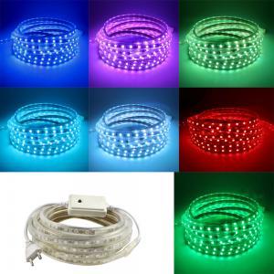 China AC220V 5M LED Strip SMD5050 White/Warm White Flexible LED Light waterproof LED ribbon for Garden Kitchen Night Bar DIY L on sale