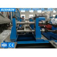 High Speed Zee Channel Roll Forming Machinery with Servo Drive Hydraulic Flying Post Shear