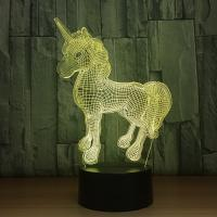 Best Hot sales Acrylic LED Table Desk Lamp 7 Colorful LED 3D Optical Illusion Night light With ABS Base wholesale
