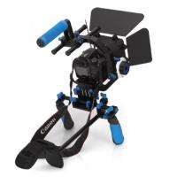 Best Dslr rig movie kit with shoulder mount+Follow Focus+Matte Box+C Shape Support Cage wholesale