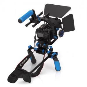 Cheap Dslr rig movie kit with shoulder mount+Follow Focus+Matte Box+C Shape Support Cage for sale