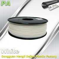 Best High Strength 3D Printing Nylon Filament 1.75 / 3.0mm Withe no bubble wholesale