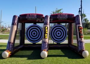 Best Flying Single / Double Size Interactive Game Inflatable Axe Throwing Carnival Game For Sale wholesale