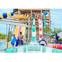 Best High Speed Water Slides Funny Swimming Pool Water Amusement For Holiday Resort Visitors wholesale