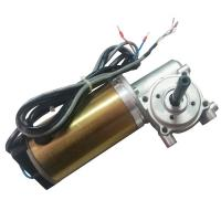 Best With Honeywell Encoder Brushed DC Automatic Sliding Door Motor 24V DC Worm Gear Box Long shaft wholesale