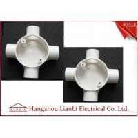 Best White GI 4 Way Electrical Junction Box PVC Conduit and Fittings BS4662 Standard wholesale