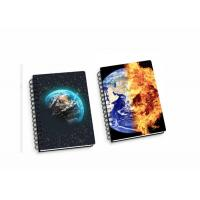 Best 45 Sheets 3D Flip Notebook Lenticular Flip With A4 / A5 / A6 size Plastic Hard Cover wholesale