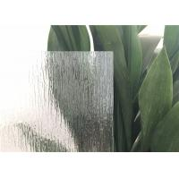 China Rain Patterned Glass For DoorsWindow , Artistic Opaque Patterned Glass Rough grind  finish edge  Glass Block on sale