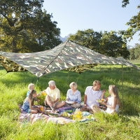 Best 4 Persons Windproof 210T Polyester Camping Sun Shelter wholesale