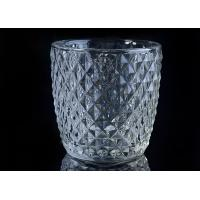Best Diamond Shape decorative candle holders Embossed glass tealight candle holders wholesale