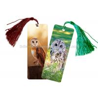 Cheap Eco - Friendly Kids 3D Lenticular Custom Plastic Bookmarks With 0.6mm PET For for sale
