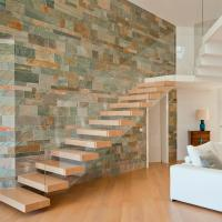 Best Frameless Glass Railing Timber Steps Build Floating Staircase wholesale