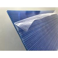 Cheap Blue Polycarbonate Roofing Sheets Lexan / Makrolon Raw Material 6mm Thickness for sale
