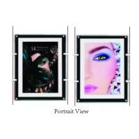 Best Shop Window Ultra Slim Acylic Crystal LED Light Box For Portrait View Wall Mounted wholesale