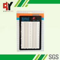 White ABS Metal Reed Test Breadboard Electronics 1580 Tie - Point Universal Printed Circuit Board